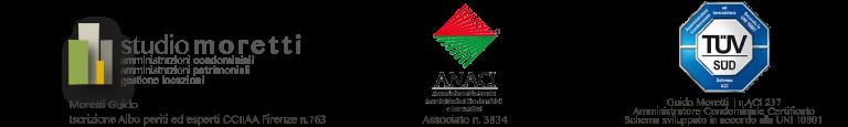 logo studio moretti, logo ANACI, logo TUV